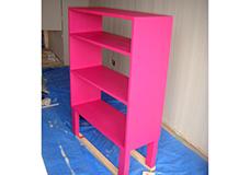 12. 全体の塗装が終了しました。好みにより二度塗り、三度塗りすることで、より良い発色に仕上げることが出来ます。