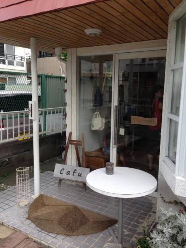 cafuの店舗入り口