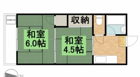 【ご成約】萩原グリーンハイツ 5-B